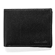 Steve Madden Men's Leather RFID Wallet Extra Capacity Attached Flip Pocket