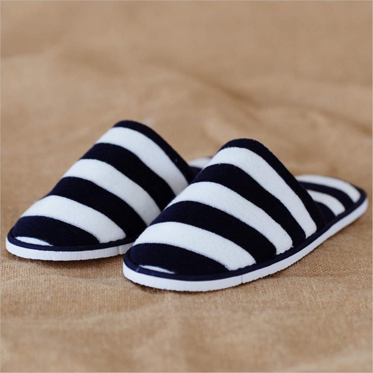 5 Pairs Non-Disposable Slippers- for Men and Women - Great for Home, Hotel, Spa, Guest, Nail Salon   Closed Toe Unisex Slippers, 38-43