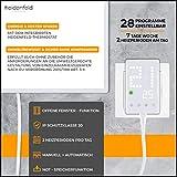Heidenfeld Infrarotheizung HF-HP100 800 Watt Weiß - inkl. Thermostat - 10 Jahre Garantie - Deutsche Qualitätsmarke - TÜV GS - Für 12-19 m² Räume (HF-HP100 800 Watt) - 4