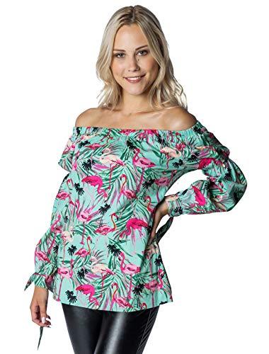 Deiters Hawaii Bluse mit Flamingos XL Größe: XL