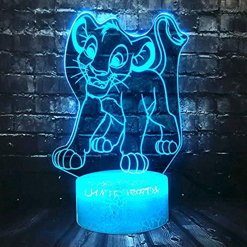 Nuit Lumière Jungle Roi Led Lion Animal Lava Room Décoration Partie Enfants Cadeau De Noël Jouet Lampe De Table