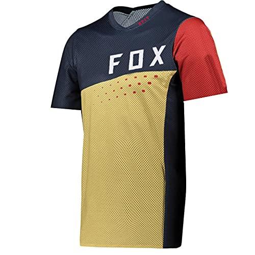 Cycling Enduro MTB Shirt Downhill T-Shirt Camiseta Motocross MX Mountain Bike Clothing 21 Fox Flexair Short Sleeve Jersey-4Xl