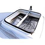 """Camco RV Vent Insulator And Skylight Cover with Reflective Surface, Fits Standard 14"""" RV Vents (45192)"""