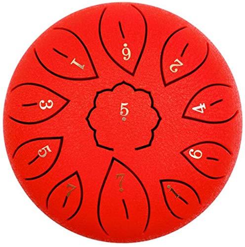 Tambor Handpan, Tambor de la lengua de acero 6 pulgadas 11 notas Instrumento de percusión Tambor de tambor de tambor para la educación musical Concierto Mente de la mente Curación de yoga Meditación I