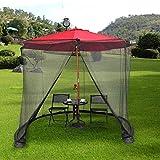 WCY Anti-Mosquito Nets Umbrella Su sombrilla en un Gazebo Garden Mosquito Netting con Puerta con Cremallera y Nettingols de Malla de poliéster para Interiores y Exteriores (Color: 275 * 230cm) yqaae