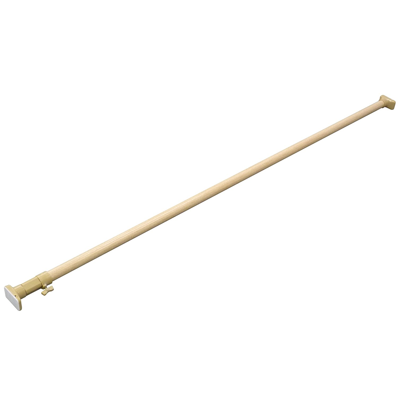 平安伸銅工業 突っ張り棒 強力太タイプ 木目 耐荷重30~8kg 幅170~280cm NPM-170