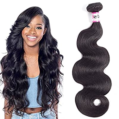 Bestsojoy Brazilian Body Wave Hair Bundles 100% Unprocessed Human Hair Weave Remy Hair Extensions Natural Color 10A