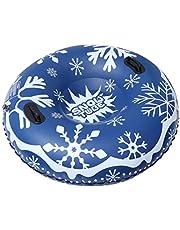 VORCOOL Snöring 147 cm uppblåsbar snörör stor frysbeständig, kraftig snödäck snowboard med handtag, uppblåsbar snörör släde för barn och vuxna
