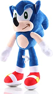 BESTZY Peluche de Sonic The Hedgehog, Sonic Muñeca De Peluche De Sonic De Peluche Muñeca De Peluche para Niño, Sonic Plush...