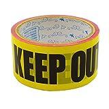 プライムナカムラ パッキングテープ (KEEP OUT) OPP製 パッキング用 セロテープ デザイン デコレーション シールテープ (幅4.8cm×長さ25m)