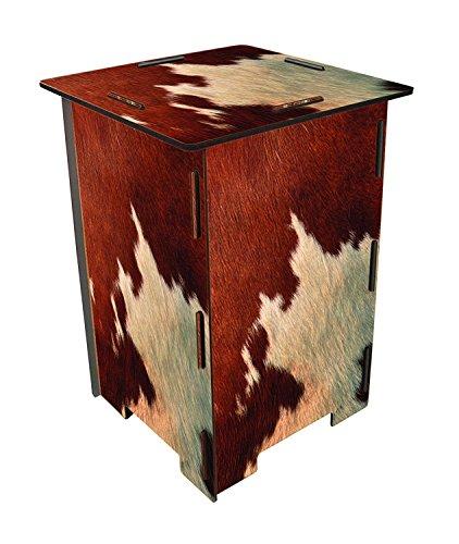 Werkhaus - Sgabello in legno con stampa Werkhaus mucca