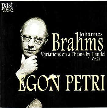 Brahms: Variations on a Theme by Handel, Op. 24