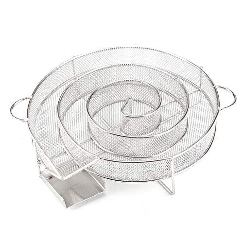 JUEYAN Rund Kaltraucherzeuger Edelstahl Kaltrauchgenerator BBQ Kalträuchern für Grill und Smoker