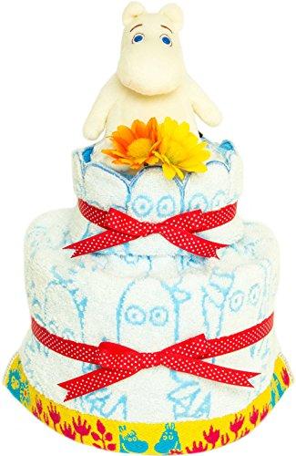 シンプルでカワイイ ムーミンの おむつケーキ/出産祝い 内祝い 誕生日プレゼント に 人気の商品! ダイパーケーキ 男の子用 女の子用