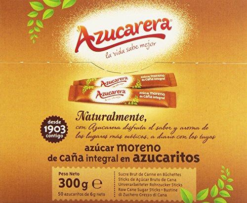 Azucarera Azúcar Moreno de Caña Integral en Azucaritos, 50 Azucaritos, 300g