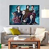AQgyuh Puzzle 1000 Piezas Cartel de TV expresión Divertida Arte Pintura Cuadro Moderno en Juguetes y Juegos Juego de Habilidad para Toda la Familia, Colorido Juego de ubicación.50x75cm(20x30inch)