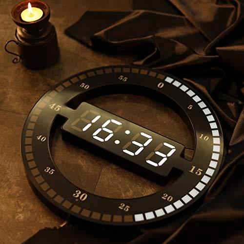 PLEASUR Digitale Wanduhr, Led Anzeige Desktop Tischuhr Leuchtende Beleuchtung Dekoration 24 Stunden Anzeige Smart Sensitization Display Home Decor FüR Reise Und Zuhause, European Standard