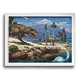 Yanghl 恐竜 アートパネル フォトフレーム フレーム装飾画 アートポスター アートボード アートポスター インテリア 装飾画 壁掛け おしゃれ 部屋飾り キャンバス Arts モダン 木枠セット