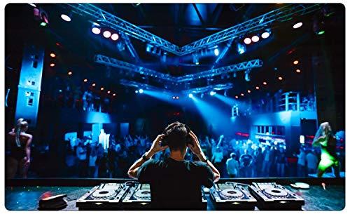 Konzert Festival DJ Set Party Musik Wandtattoo Wandsticker Wandaufkleber R1922 Größe 40 cm x 60 cm