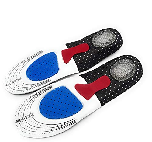 ShoeKicks SPORT- Gel Orthopädische Einlegesohlen Schuheinlagen Comfort für Sport und Alltag-Arbeit -Laufkomfort für Füße Beine und Rücken (Gummi, 35-41)