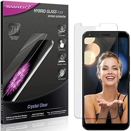 SWIDO Panzerglas Schutzfolie kompatibel mit Allview X4 Soul Infinity Plus Bildschirmschutz-Folie & Glas = biegsames HYBRIDGLAS, splitterfrei, Anti-Fingerprint KLAR - HD-Clear