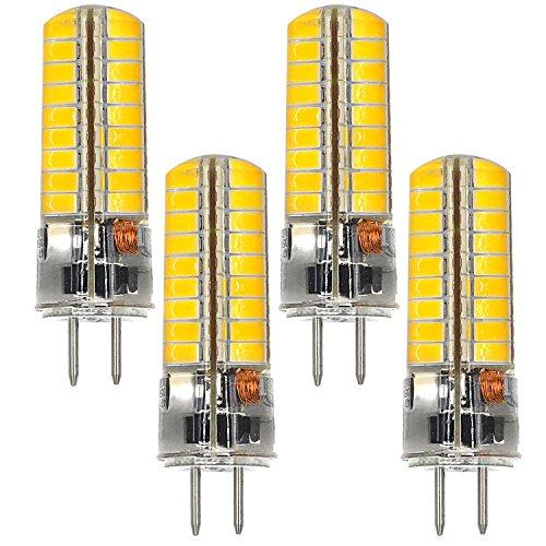 MENGS 4 Stück GY6.35 6W LED Lampe 72x5730 SMD Warmweiß 3000K AC/DC 12V Mit Silikon Mantel