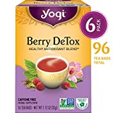 Yogi Tea - Berry DeTox - Healthy Antioxidant Blend - 6 Pack, 96 Tea...