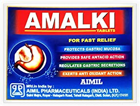 AIMIL Amalki Tablets   Immunomodulator   Regulates Gastric Secretions   Improve Body Defense System   30 Tablets
