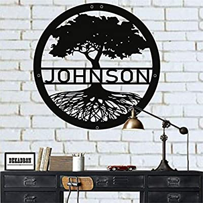 DEKADRON Metal Wall Art, Personalized Family Tree, Tree of Life Wall Art, Metal Family Name Sign, Last Name Sign, Wedding Gift, Metal Wall Decor, Interior Decoration, Wall Hangings from DEKADRON