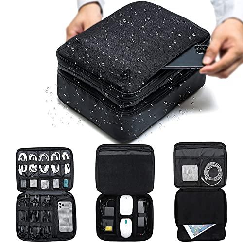 Bolsa organizadora de cables, funda para accesorios electrónicos, bolsa universal para accesorios...
