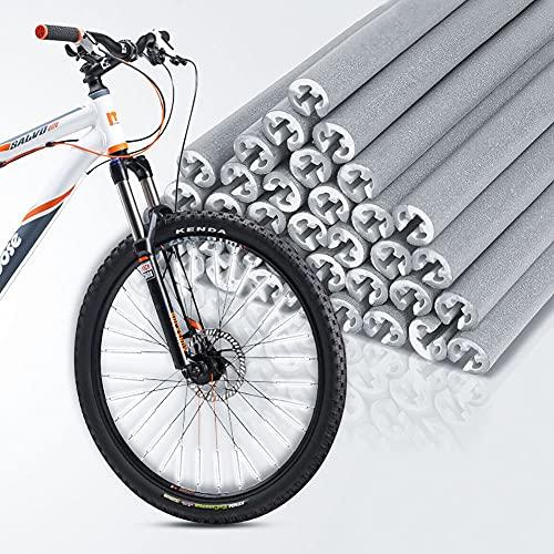 Abnaok Speichenreflektoren 72 Stück, 360° Sichtbarkeit Speichenreflektoren Set- Fahrrad Reflektoren/Speichen Reflektor/Fahrradreflektoren Speiche, Wasserdicht Einfache Montage, Grau