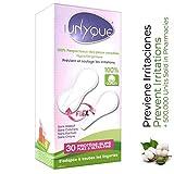 UNYQUE Protege Slips Flex de Algodon Puro 100% - Salvaslips Hipoalergénicos Suaves Ultraf...