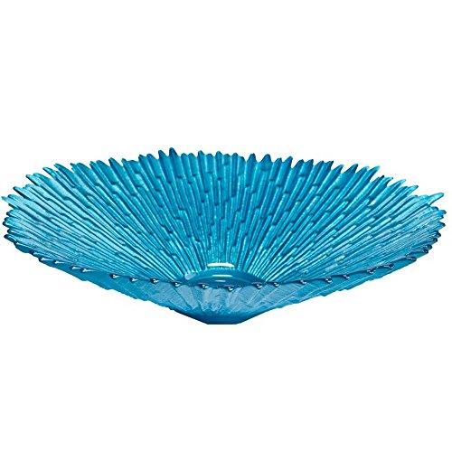 Budawi® - Brunnenschale/Glasschale (Polareis) blau mit Zackenrand Ø 29 cm für Nebler und Zimmerbrunnen
