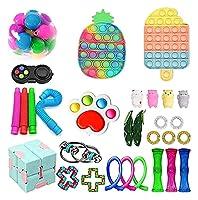 フィジットのおもちゃのパック、ポップバブル安い感覚のフィジットパックストレスの緩和のおもちゃの大理石の網のポップ不安チューブ (Color : Fidget Pack 1)