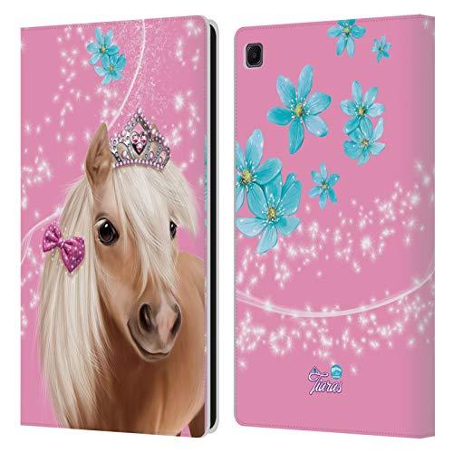 Head Case Designs Licenza Ufficiale Animal Club International Cavallo Facce Reali Cover in Pelle a Portafoglio Compatibile con Samsung Galaxy Tab S6 Lite