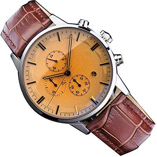 irugh Reloj analógico de Cuarzo, Reloj Deportivo para Hombre de Alta Gama, con cinturón Deportivo Suizo 3TM Impermeable.