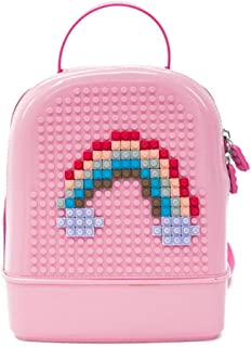 DIY Building Blocks Kindergarten Child Book Bag, Creative Cute Toddler Backpack with Mini Particle Building Blocks for Boys and Girls
