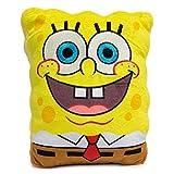 Dog Toy, Nickelodeon, Plush Squeaker Spongebob Squarepants Open Mouth Smile Square
