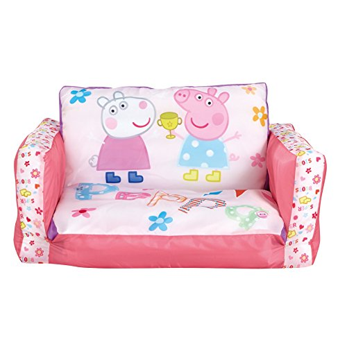 Peppa Pig 2-in-1: Aufblasbares Sofa und Liegestuhl, Polyester, pink, 26 x 68 x 105 cm