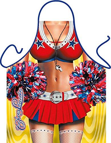 Mega grappig schort met klein schort Cheer Leader cadeau-artikel voor elke gelegenheid carnaval cadeau-idee plezierartikel