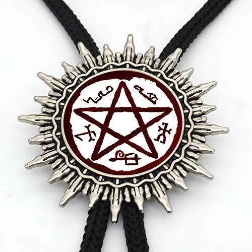 Neuankömmling Supernatural Devils Trap Western Bolo Krawatte Steampunk Glass Dome Devil'S Trap Krawattenschmuck Für Frauen Männer