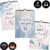 OfficeTree 3 Bastelkalender zum Selbstgestalten im Aquarell Design – Kalender DIY in Din A4 –...