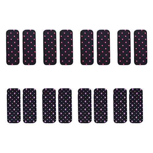 Minkissy Autocollants de Cheveux Magiques 8 Paires D'autocollants de Frange de Cheveux Patch de Frange de Bande de Frange de Bande Magique pour Femmes Fille