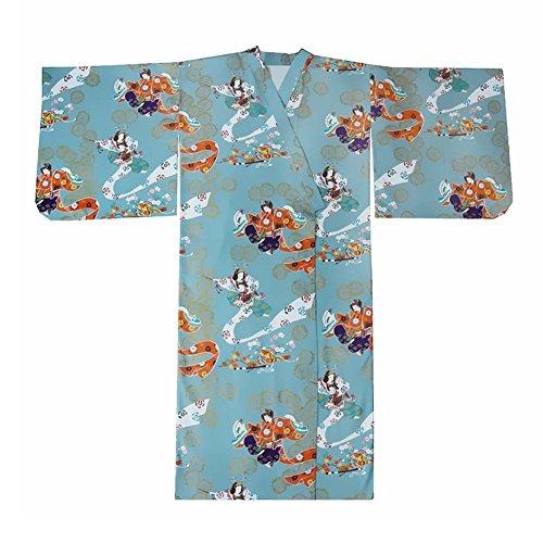 Fancy Pumpkin Albornoz del Traje del Kimono de Las Mujeres retras del Estilo japonés con la Pretina, Mujeres de la Vendimia