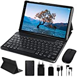 FACETEL 10 Pollici Tablet Android 10.0, 4 GB Ram + 64 Gb Rom 128Gb MicroSD Espandibile, Solo wifi | GPS | Tastiera Bluetooth e Mouse-Grigio