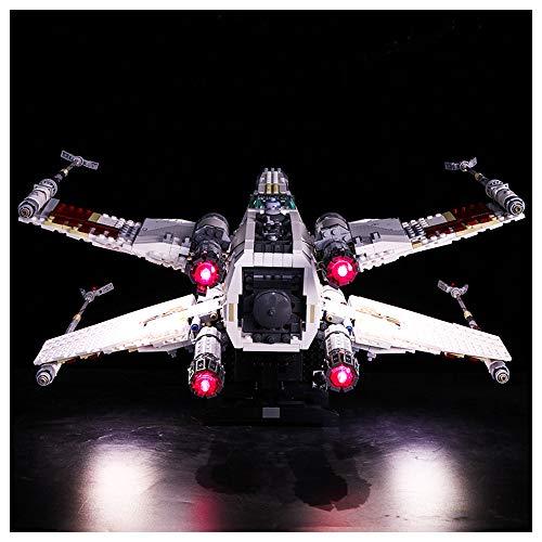 Iluminación de Bloques de construcción LED, Compatible con Lego 10240 Star Wars Fighter X-Wing Fighter, Kit de iluminación Creativa de DIY (sin incluir Bloques)