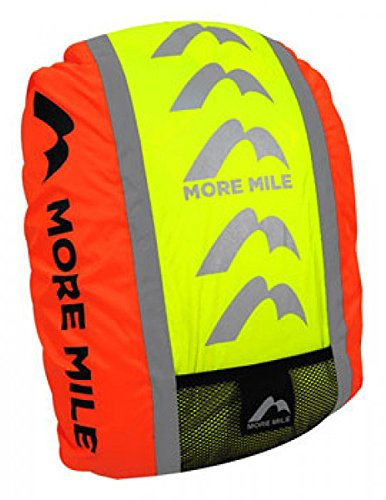 More Mile High Visibility Water-Resistant Backpack Cycle Cover, Weatherproof Reflective Rucksack Cover