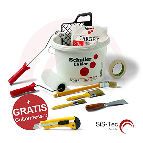 Malerset Streichset Renovierungsset Profi 10-tlg. + GRATIS Cuttermesser (1 Stück)