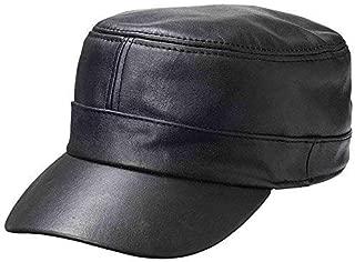 Solid Genuine Lambskin Leather Cap