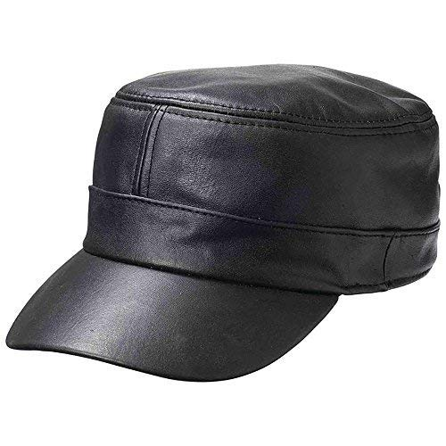 Amazon.com  Casual Outfitters Solid Genuine Lambskin Leather Cap ... efb398f17fc8